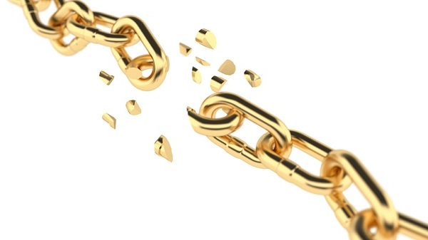 Порванная золотая цепочка